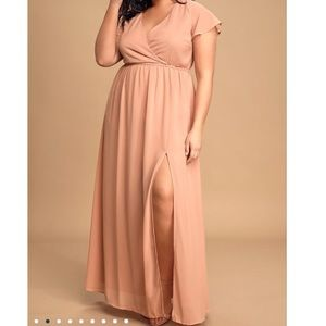 Lulu's Lost in the Moment Blush Maxi Dress